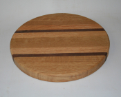 "Hardwood Butcher Block 11"" Round Cutting Board"