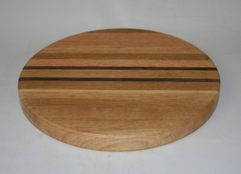 "Hardwood Butcher Block 10"" Round Cutting Board"
