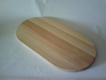 "11"" x 18"" x 3/4"" Double Slotted Flat Sided Oval"