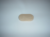 "1 1/2"" x 3 1/2"" x 3/4"" Flat Sided Oval"
