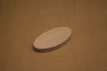3 x 6 x 1/2 inch Oval