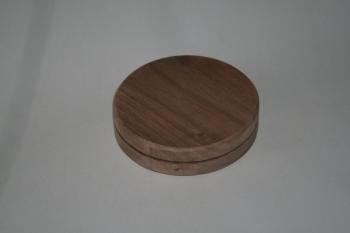 """5"""" x 3/4"""" Round Walnut Base"""