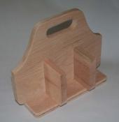 "4 Compartment Oak Tote (4"" x 8"" rectangular base)"