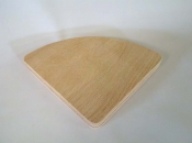 "6"" x 6"" x 3/4"" Triangle Oak Base"