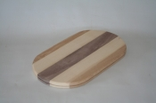 6 x 10 x 5/8 inch Flat Sided Oval Multi Hardwood