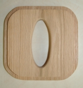 Rectangular Tissue Top Oak