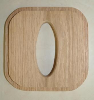 Rectangular Tissue Top Oak