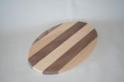 8 x 12 x 5/8 inch Oval Multi Hardwoods
