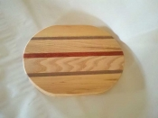 "8"" x 10"" x 3/4"" Mulitwood Exotic Flat Sided Oval"
