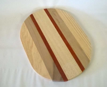 """9"""" x 12"""" x 3/4"""" Multiwood-Exotic Flat Sided Oval"""