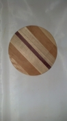 "8"" Round Exotic/Multi Wood Base 3/4"""