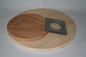 "11"" Lazy Susan Oak ""double slotted"""